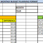 Monthly budget planner daily wise