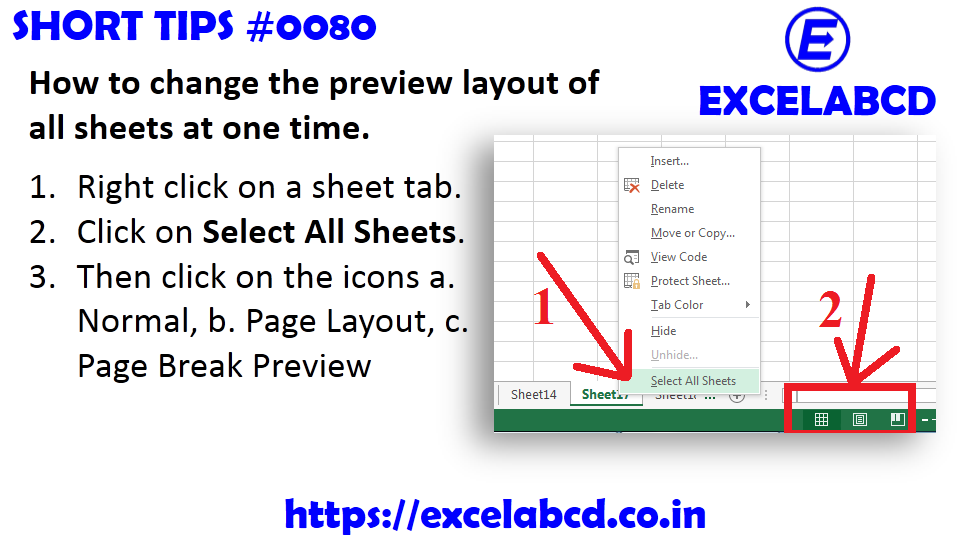 Short Tips#0080: How to change the preview layout of all ...